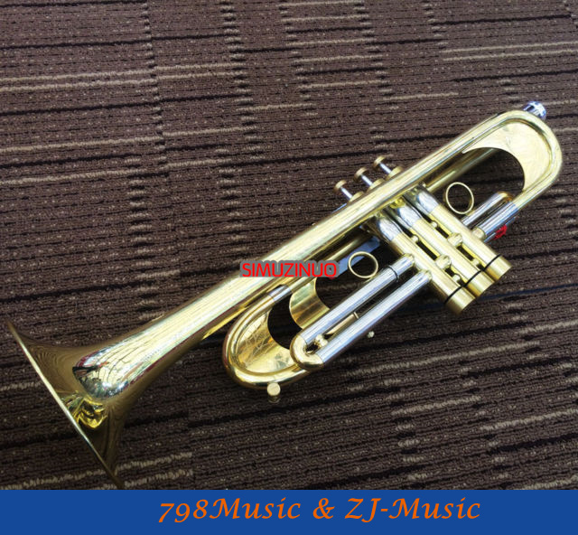 Professional Heavy Trumpet Customized Horn Passivation Finish 2016 Style With Case professional silver nickel rotary valve cornet trumpet new bb horn with case