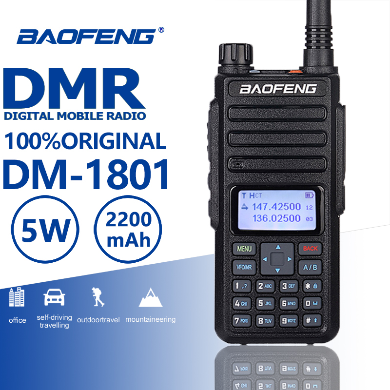 Baofeng Walkie-Talkie Hf Transceiver DMR Digital Dual-Band Comunicador Two-Way-Radio