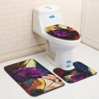 S African Style Bathroom Carpet Toilet Mat Set In Bath Mats 3pcs Cosas De Cocina Non Slip Toilet Seat Covers Room Rug Floor Mats