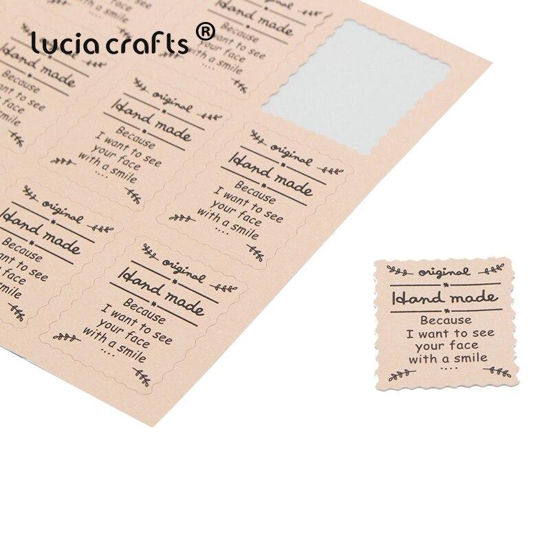 Lucia Ремесла Розовый «ручной работы» уплотнения стикеры выпечки посылка печенье, торты коробка украшения 48 шт. 19050027 (2,8*2.3D48)