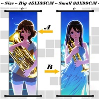45X135CM Sound Hibike Euphonium Kyoto Reina Kumiko Cartoon Anime Art Wall Picture Mural Scroll Cloth Canvas