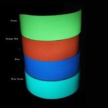 1.5cm/2cm/3cm/4cm/5cm 5M/roll Stored Luminous Tape Self-adhesive Glowing Night /Dark Safety Stage Striking Warning Safety Tape