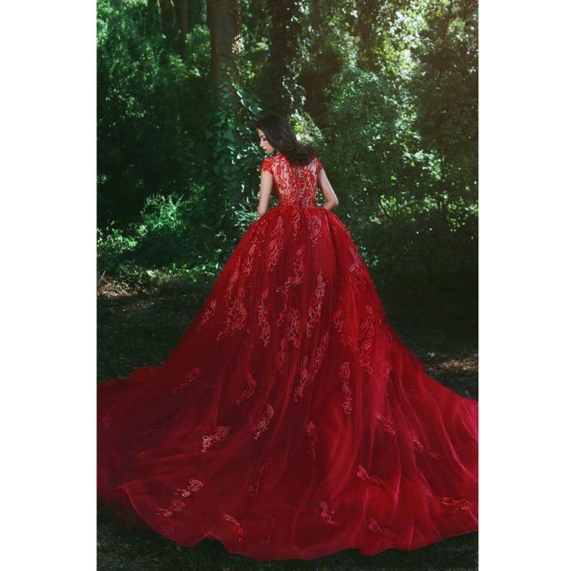 Avec Soirée Train De Rouge Robes Tulle Robe 2018 Banquet Mode Appliqué Sirène En Détachable Arabe Dentelle Mariée qaIa0