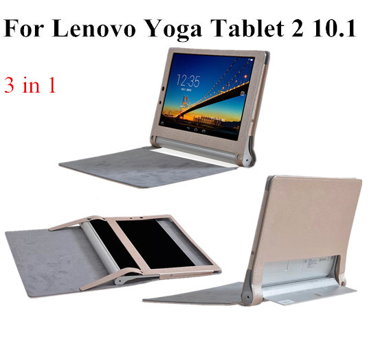 separation shoes 191aa de625 US $8.12 18% OFF|Resale For 10.1'' YOGA Tablet 2 Flip Cover Case For Lenovo  Yoga Tablet 2 1050f cover case ,5 Color+screen protectors +touch pen-in ...