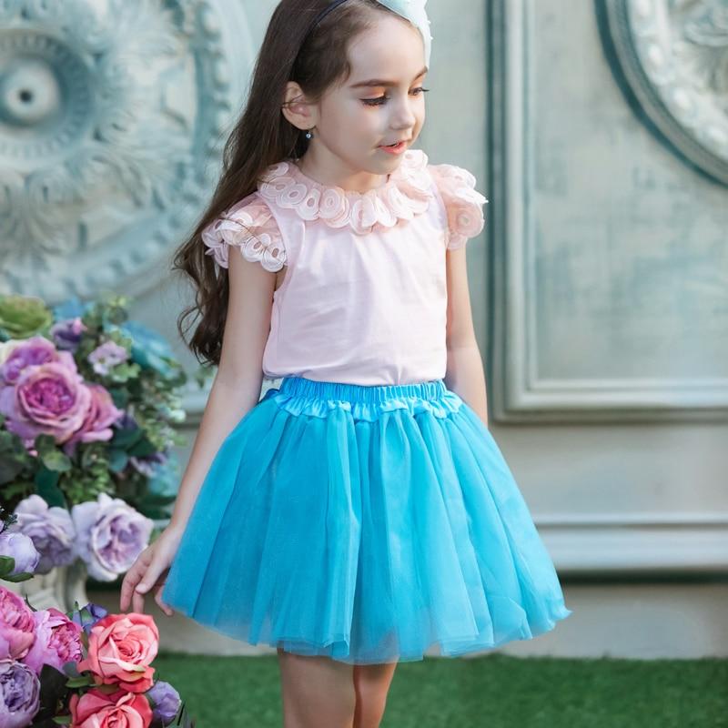 Baba mini szoknya 16colors opció lány nyáron 3 réteg puffadt - Gyermekruházat