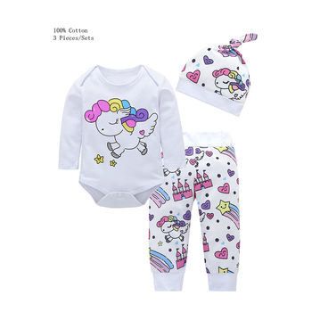 3 Pieces Infant Girl Clothing Sets