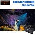 High Quality 5M*5M Led Star Curtain RGB/RGBW LED Star Cloth LED Backdrops for DJ Stage Wedding Backdrops Light Curtains