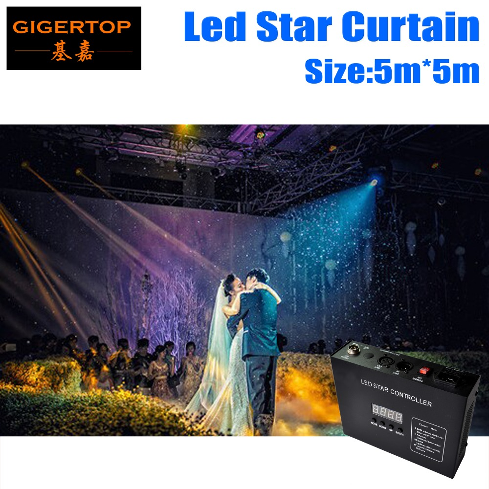 High Quality 5M 5M Led Star Curtain RGB RGBW LED Star Cloth LED Backdrops For DJ