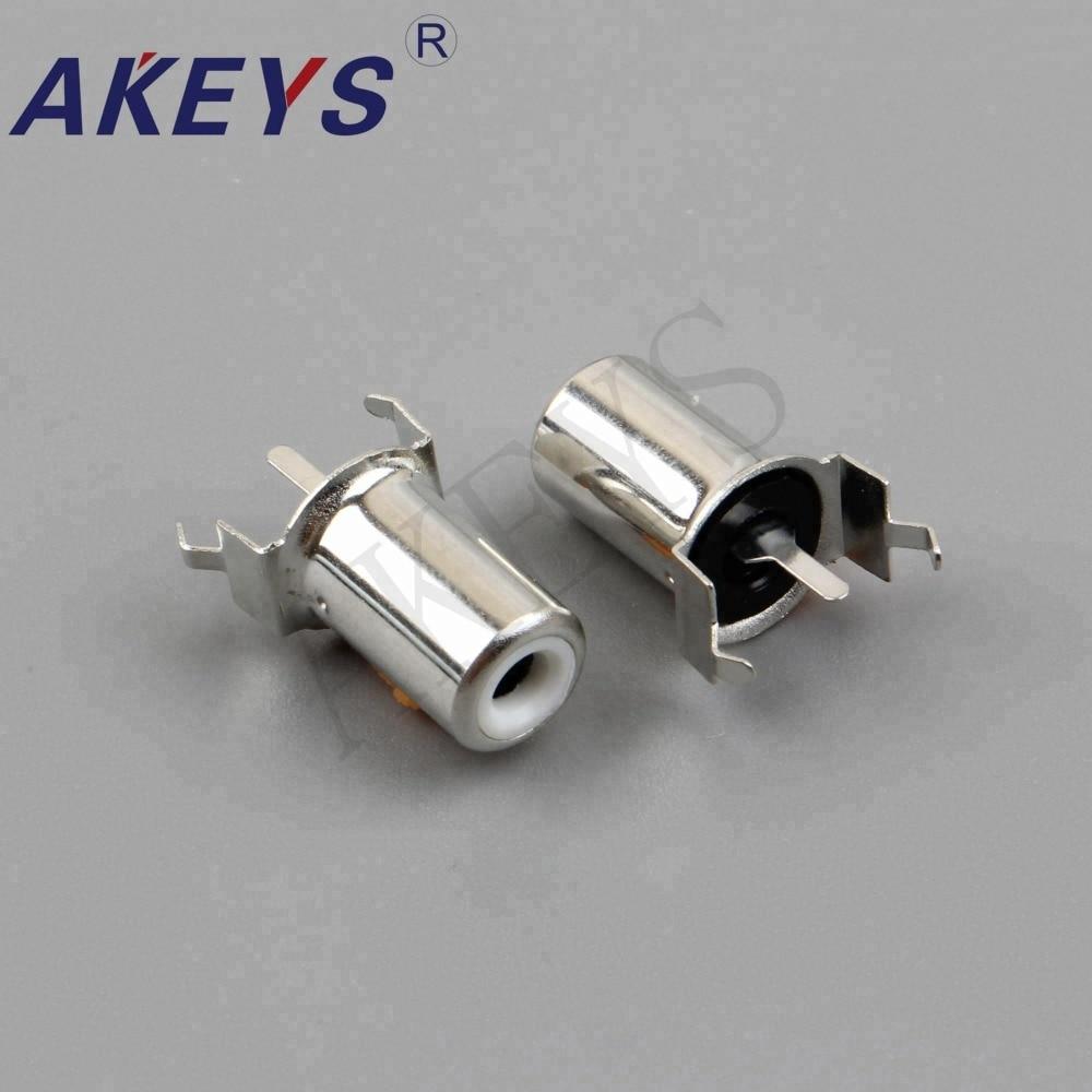 Купить с кэшбэком 20PCS AV-8.4-11A Single-hole RCA audio socket with the core connector AV concentric socket