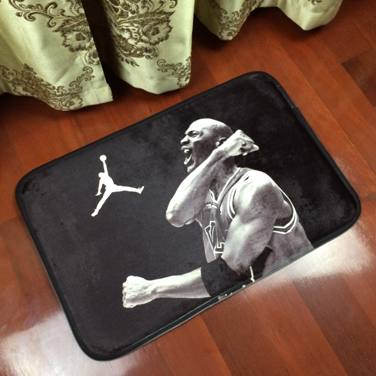 Air Jordan fashion brand carpet flannel sitting room tea table bedroom bed mat