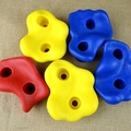 5pcs/set, Climbing Rock Wall Kit Stones Hold Grips Playground Playset  Hardware, Screws Included