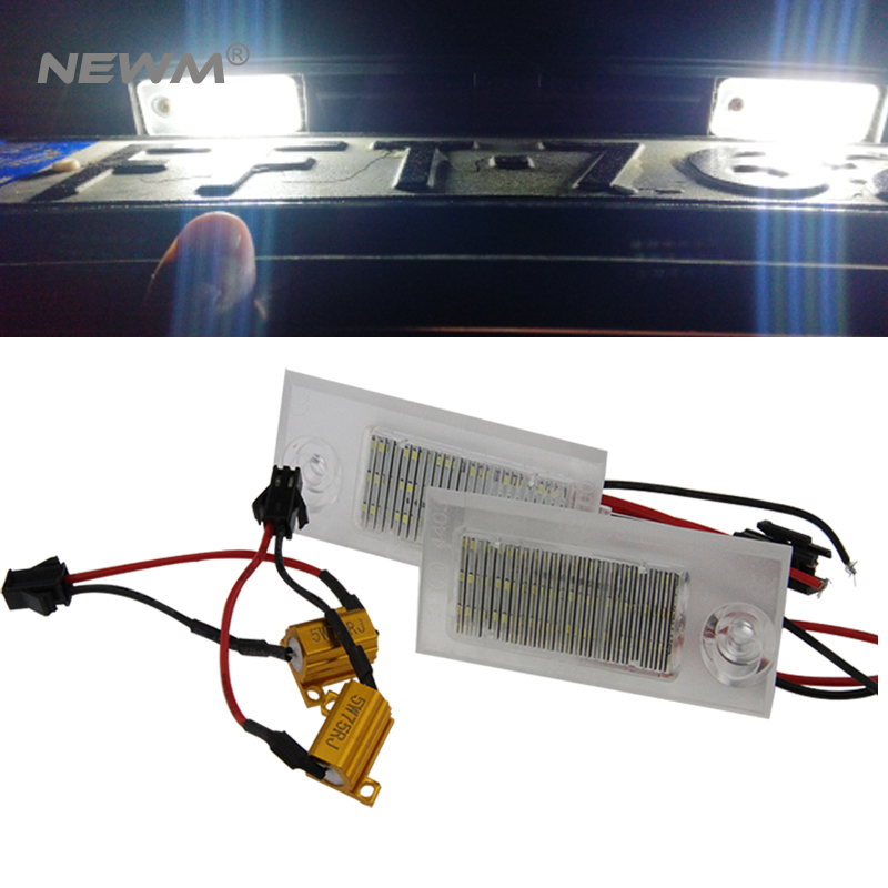 2016 New auto led tail lamp 2pcs Car special Bright Led License Number Plate Light for Audi A6 led rear license plate light lamp 2pcs car led license number plate light lamp 6w 12v 24 led white light for ford focus 2 c max