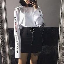 Unisex Couple Sweatshirt Women Men Long Sleeves Loose Pullovers Sweatshirts Punk Black White Lovers Tops