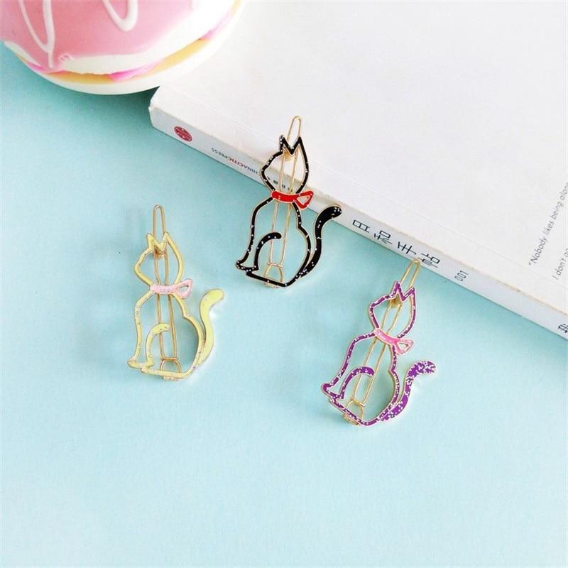 Cool bar accessories 2017 Kitten Bowknot Hairpin Meng Meng Cute Girl Heart Fashion Minimalist Cartoon Cartoon Kitten Hair Ornaments Wholesale