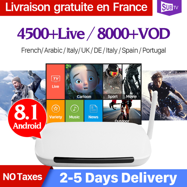 US $67 9 32% OFF|IPTV 1 Year Subscription QHDTV Code IPTV IUDTV SUBTV Q9  Smart Android 8 1 TV Box Europe French Arabic Italia Spanish IPTV Box -in