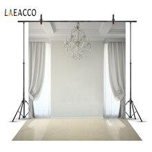 Laeacco Cozy Living Room Curtain Chandelier Light Floor Window Child Interior Photo Background Photography Backdrop Studio