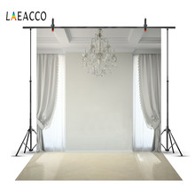 Laeacco Cozy Living Room Curtain Chandelier Light Floor Window Child Interior Photo Background Photography Backdrop Photo Studio(China)