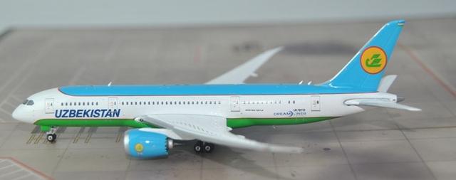 Nuevos productos Phoenix 1: 400 11315 Uzbekistán B787-8 UK78701 Aleación Airways modelo de avión de pasajeros modelo de Recogida