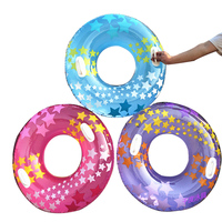 3Pcs Transparent Swimming Ring PVC Thickened Floating Swimming Ring Inflatable Ring Swim Tube Summer Fun Swim Trainer for Adults