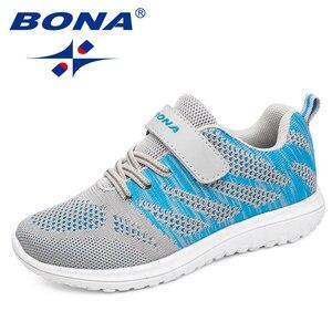 Image 1 - BONA New Arrival popularny styl dzieci obuwie siatkowe trampki chłopcy i dziewczęta płaskie dziecko świecące buty do biegania szybka bezpłatna wysyłka