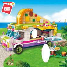 цена на ENLIGHTEN City Girls Princess Pizza Dining Bus Car Building Blocks Kids Gift Compatible Bricks Girls Toys for Children