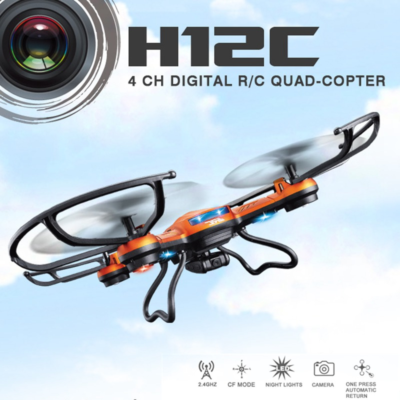 rc drone H12C with camera 2.4G 4CH 6 Axis Gyro Rc Quadcopter Headless Mode One Key Auto Return Remote control drone flying toys drone with camera h5c 2 4ghz 6 axis wth gyro rc quadcopter one key return headless mode rc aircraft rtf helicopter toy kid gifts