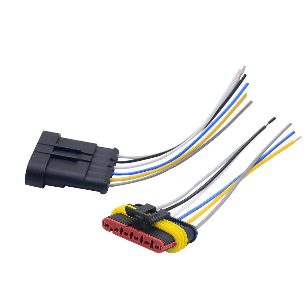1 2 3 4 5 6 manier 1P 2P 3P 4P 5P 1.5 Kit Auto connector Mannelijke & Vrouwelijke Waterdichte Elektrische Plug met 14AWG Kabel Kabelboom