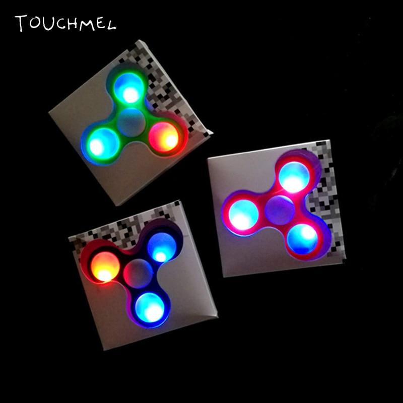 TOUCHMEL LEDอยู่ไม่สุขปินเนอร์นิ้วมือปั่นLedสำหรับออทิสติกและอยู่ไม่สุขปินเนอร์เรืองแสงในที่มืด