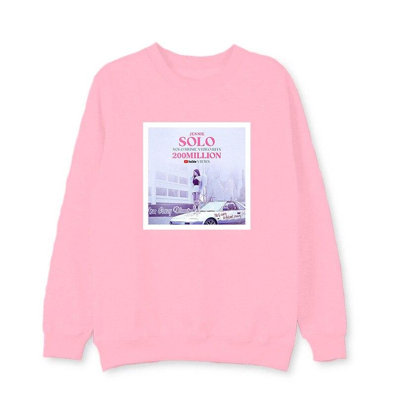 2019 Kpop Blackpink Album Solo Jennie Same paragraph Long sleeve HIP HOP  FASHION Sweatshirt pullover popular Harajuku Hoodies