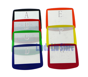 Image 3 - ChengChengDianWan 7 colors For GBA System Replacement Protective plastic Screen Lens Protector 10pcs/lot