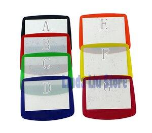 Image 3 - ChengChengDianWan 7 couleurs pour GBA système de remplacement protecteur en plastique écran lentille protecteur 10 pièces/lot