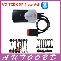 Free Shipping 2014 03 Version DiagnosticTool For Delphi DS150E CDP Pro With Bluetooth TWO PCB Plus