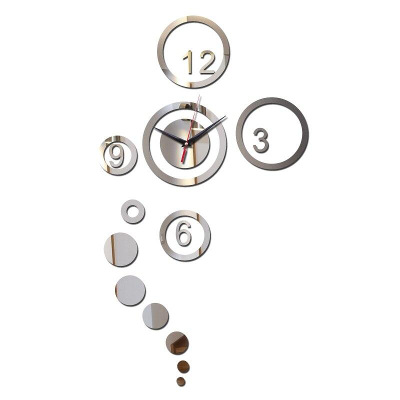 2017 New Diy Acrylic Wall Clock Novelty Fashion Mirror Surface Stickers Living Room Real Quartz Clocks Home Decor