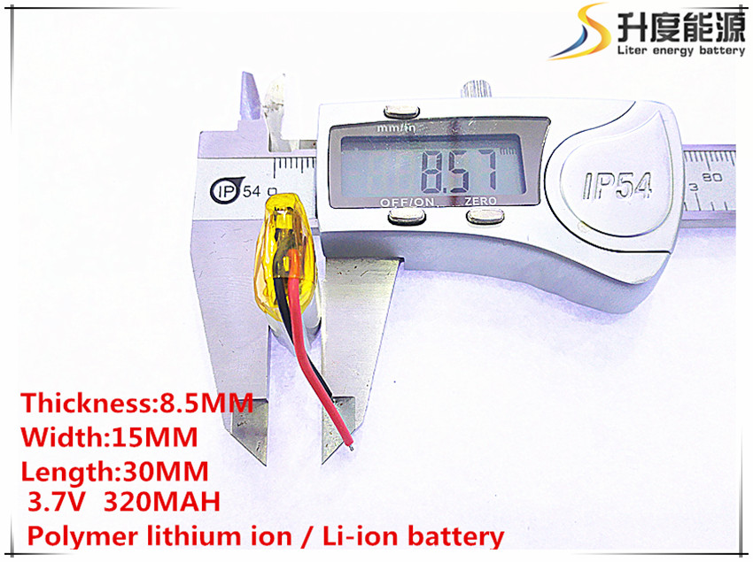 10pcs [SD] <font><b>3.7V</b></font>,<font><b>320mAH</b></font>,[851530] Polymer lithium ion / Li-ion battery for TOY,POWER BANK,GPS,mp3,mp4,cell phone,speaker image
