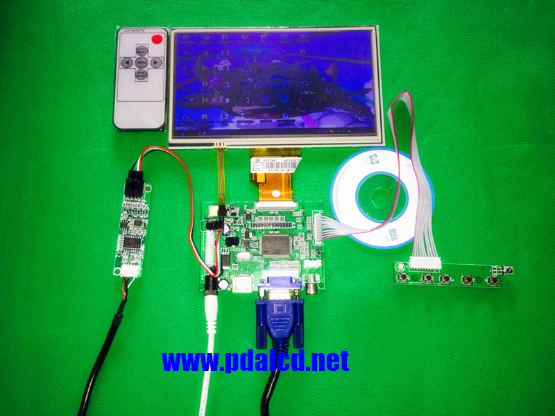 skylarpu for INNOLUX Raspberry Pi LCD Touch Screen Display TFT Monitor AT070TN92 + Touchscreen Kit HDMI VGA Input Driver Board skylarpu 7 inch raspberry pi lcd screen tft monitor for at070tn90 with hdmi vga input driver board controller without touch