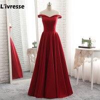 L Ivresse 2017 Vestidos De Fiesta Burgundy Satin Long Prom Dress Luxury A Line Sweetheart Cheap
