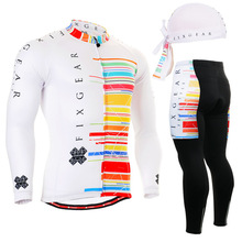 Life on Track  New men's Long Sleeve Jersey Set breathable Cycling Bike Bicycle Long Set Shirt Top And Pant