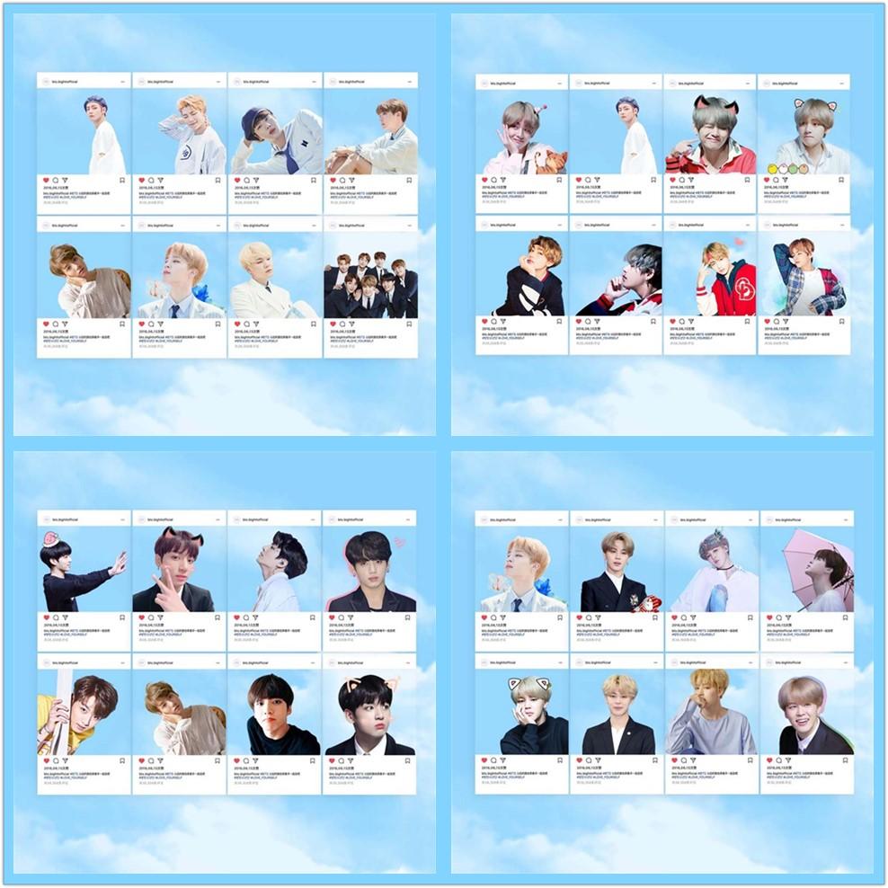 Good Kpop Bts Pvc Transparent Photo Cards Jungkook Jimin V Cute Photocard Poster 8pcs/set Careful Calculation And Strict Budgeting Jewelry & Accessories