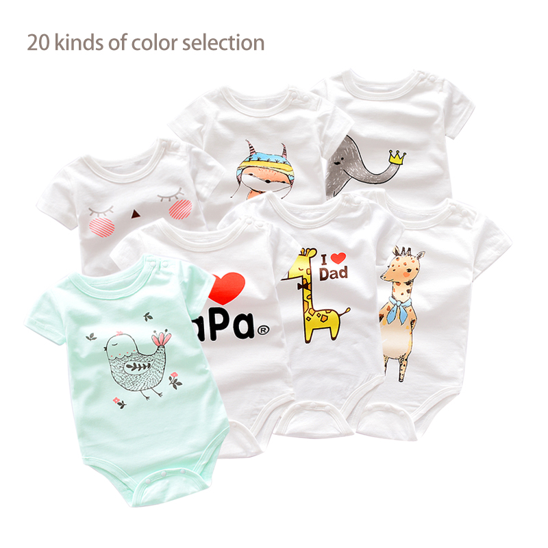 6483f18a1ed7 Summer Baby Clothes Baby Boy Romper Animal style Short Sleeve infant ...