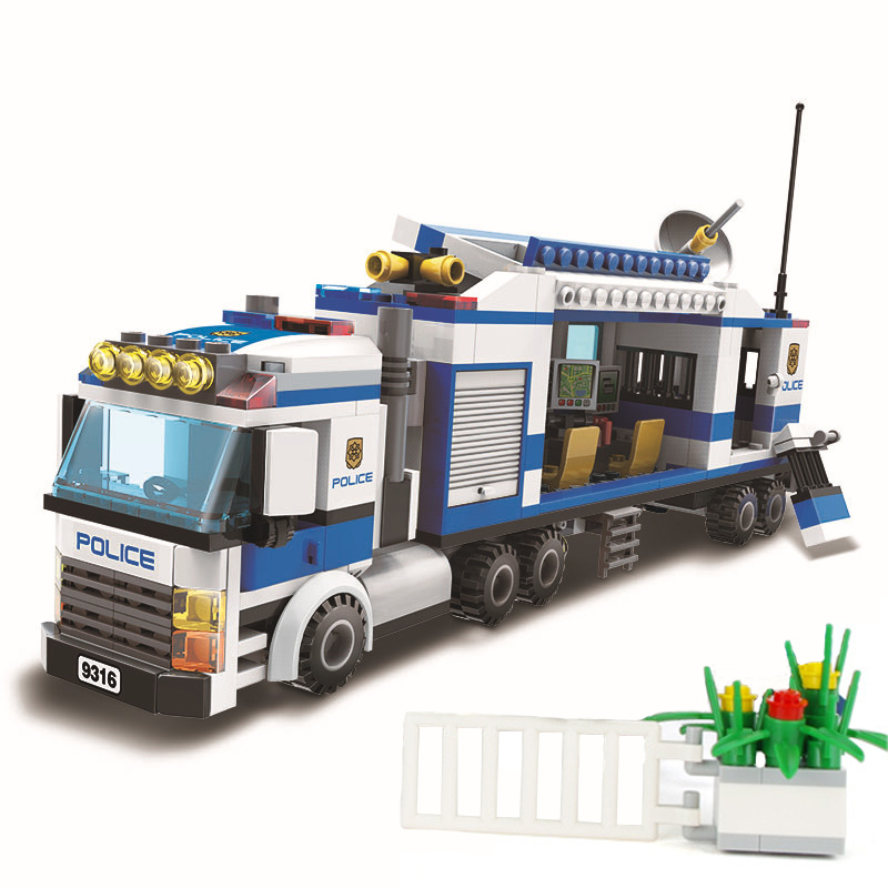 407Pcs City Street Police Station Car Truck 9316 Building Blocks Bricks Educational DIY Toys For Children Christmas Gift Legoing 6727 city street police station car truck building blocks bricks educational toys for children gift christmas legoings 511pcs