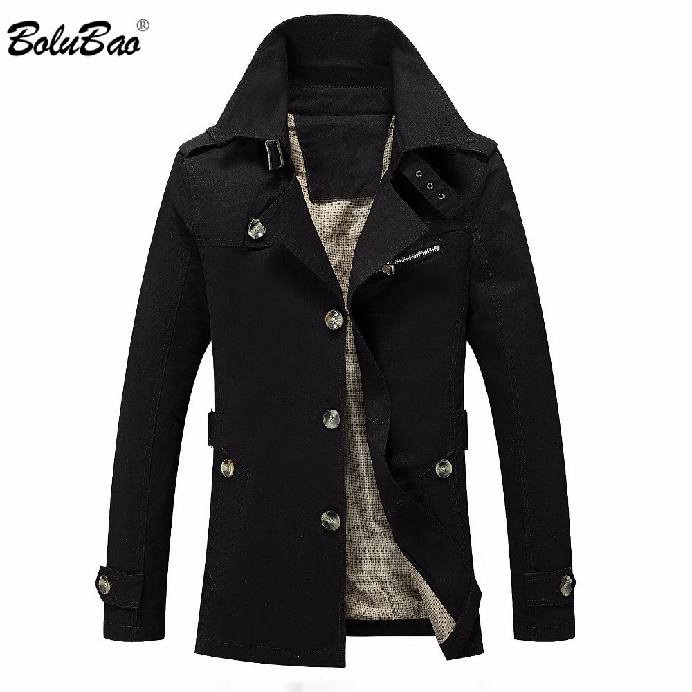 BOLUBAO Men Jacket Coat Fashion Trench Coat Jaqueta Masculina Veste Homme Brand Casual Fit Overcoat Outerwear Jacket Male