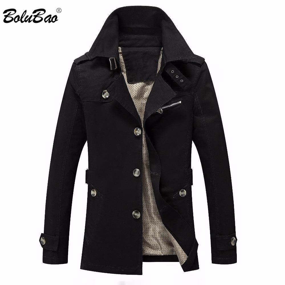 BOLUBAO Men Jacket Coat Fashion Trench Coat Jaqueta Masculina Veste Homme Brand Casual Fit Overcoat Outerwear Jacket Male
