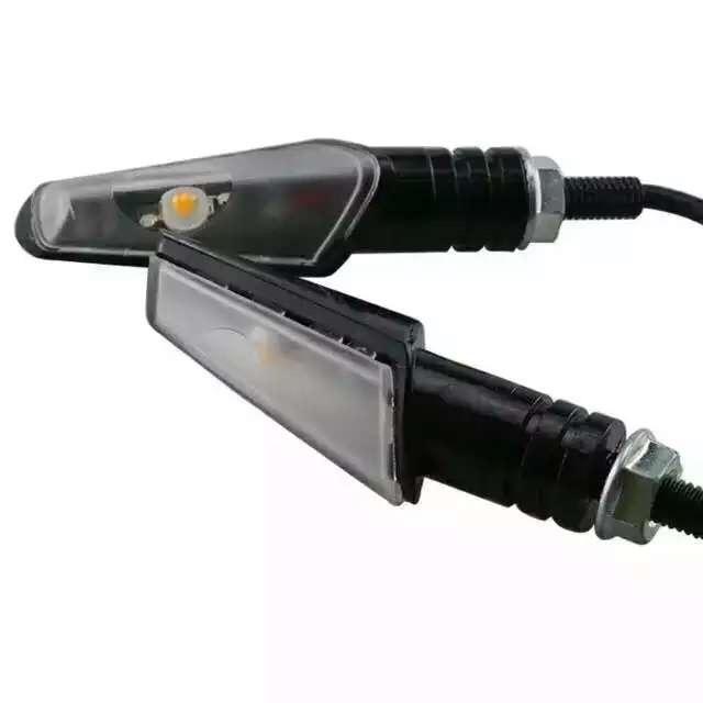 Para a AÇÃO 2x de Alumínio Da Motocicleta LED Turn Signal Luz Indicadora Blinker Luz Universal
