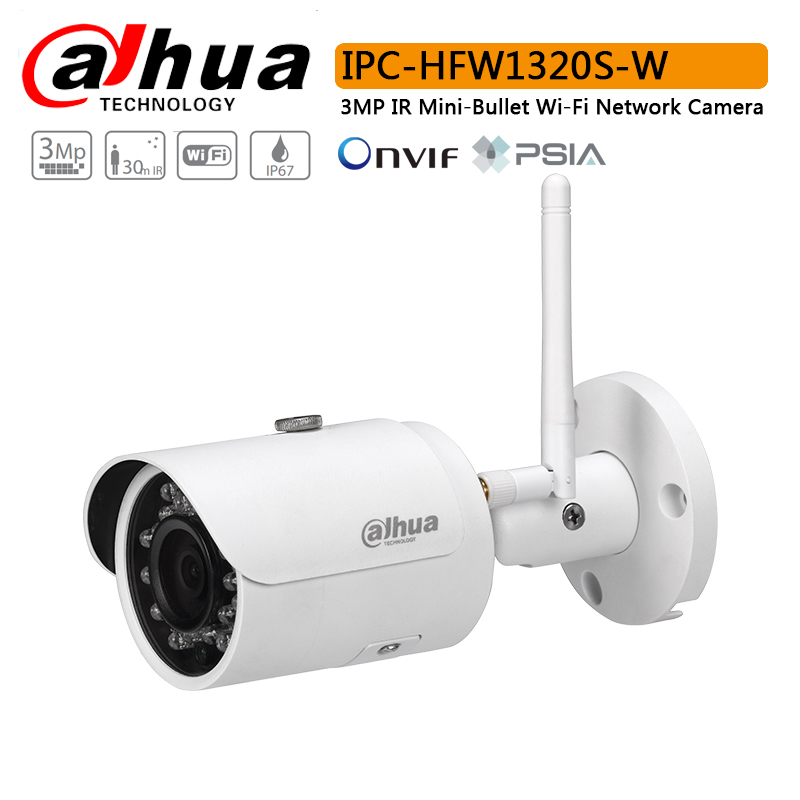 Original Dahua IPC HFW1320S W Wi Fi Network PT Camera with 3 Megapixel progressive CMOS IR