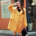 Quintina 2017 New Fashion Loose Women Coat Casaco Feminino Woolen Coat Female Overcoat Winter Coat Women