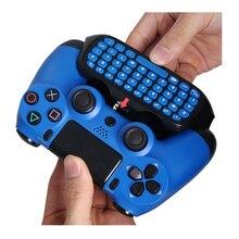 HAOBA 2.4G Mini contrôleur sans fil clavier manette Chatpad pour PS 4/PS 4 Slim/PS 4 Pro