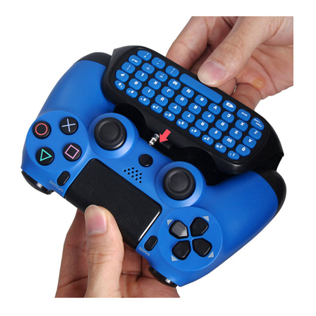 HAOBA 2.4G Wireless Mini Controller Keyboard Gamepad  Chatpad for PS 4 / PS 4 Slim / PS 4 Pro