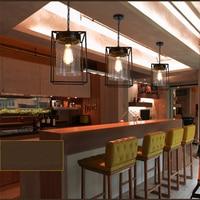 Loft Wrought Iron Pendant Lights Bar Cafe Suspension Luminaire Art Deco Drop Light Vintage American Simple