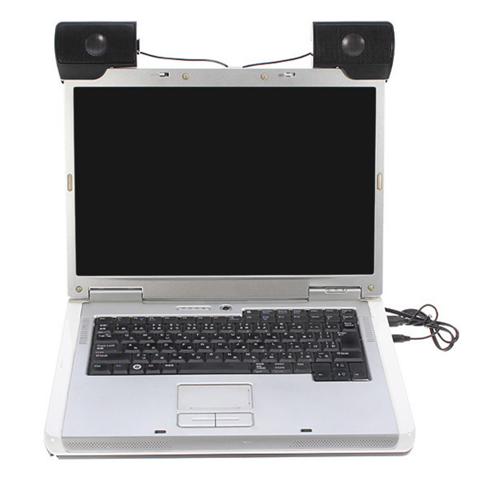 Mini Portatile USB Stereo Speaker Soundbar per Notebook Computer Portatile Mp3 Phone Music Player Computer PC con la Clip