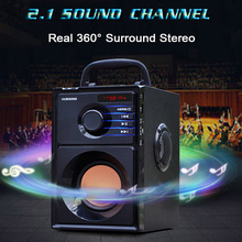 sardine sdy 019 portable wireless bluetooth speakers with alarm clock lcd time display big power 10w output hifi support Portable Big Power Bluetooth Speaker Subwoofer Heavy Bass Stereo Wireless Speakers Music Player LCD Display FM Radio TF